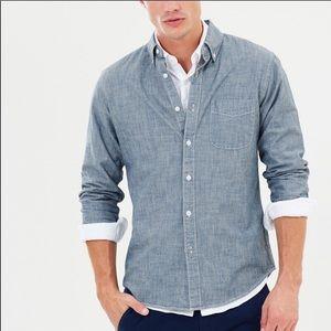 J. Crew Slim Fit Japanese Chambray Shirt Large